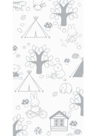 Kek Amsterdam - Behang Miffy Outdoor Fun Grey
