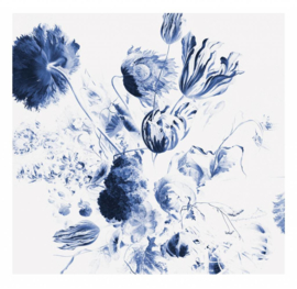 Behang Royal Blue Flowers I