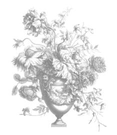 Behang Engraved Flowers V