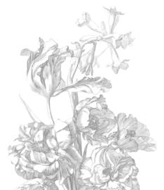 Behang Engraved Flowers III