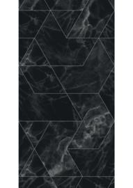 Patroonbehang Marble Mosaic Black - 97,4 x 280 cm - KEK Amsterdam