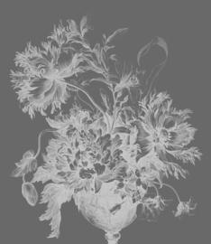 Behangpaneel Engraved Flowers XL