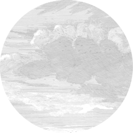 Engraved Clouds - diameter 190 cm