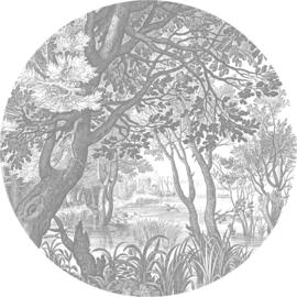 Behangcirkel Engraved Landscapes - diameter 237,5 cm - KEK Amsterdam