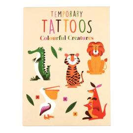 Kleurrijke wezens tijdelijke tattoos