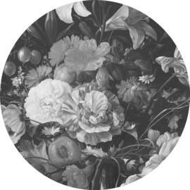 Behangcirkel Golden Age Flowers - diameter 190 cm - KEK Amsterdam