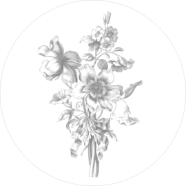 Engraved Flowers - diameter 190 cm