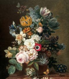 Behangpaneel XL Golden Age Flowers, 190 x 220 cm