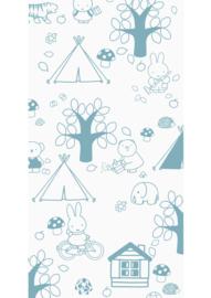 Kek Amsterdam - Behang Miffy Outdoor Fun Blue