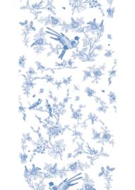 Patroonbehang Birds & Blossom Blue - 97,4 x 280 cm - KEK Amsterdam