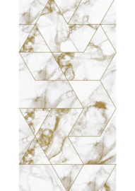 Patroonbehang Marble Mosaic Gold - 97,4 x 280 cm - KEK Amsterdam