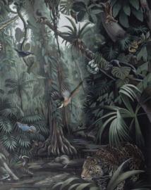 Behangpaneel Tropical Landscape - 142,5 x 180 cm - KEK Amsterdam
