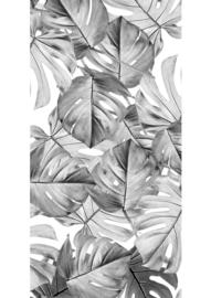 Patroonbehang Monstera Black & White - 97,4 x 280 cm - KEK Amsterdam