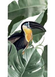 Patroonbehang Botanical Birds White - 97,4 x 280 cm - KEK Amsterdam