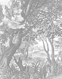 Behangpaneel Engraved Landscapes