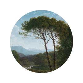 Behangcirkel Golden Age Landscape - diameter 142,5 cm - KEK Amsterdam