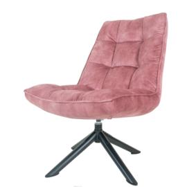 Fauteuil Dorus Adore Velvet Old Pink