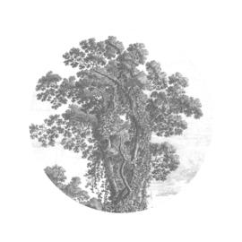 Behangcirkel Engraved Tree - diameter 142,5 cm - KEK Amsterdam