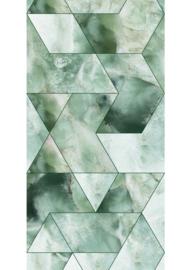 Patroonbehang Marble Mosaic Green - 97,4 x 280 cm - KEK Amsterdam