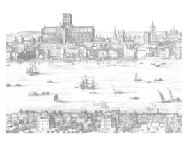 Fotobehang Engraved Landscapes London