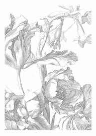 Fotobehang Engraved Flowers I - 194,8 x 280 cm - KEK Amsterdam