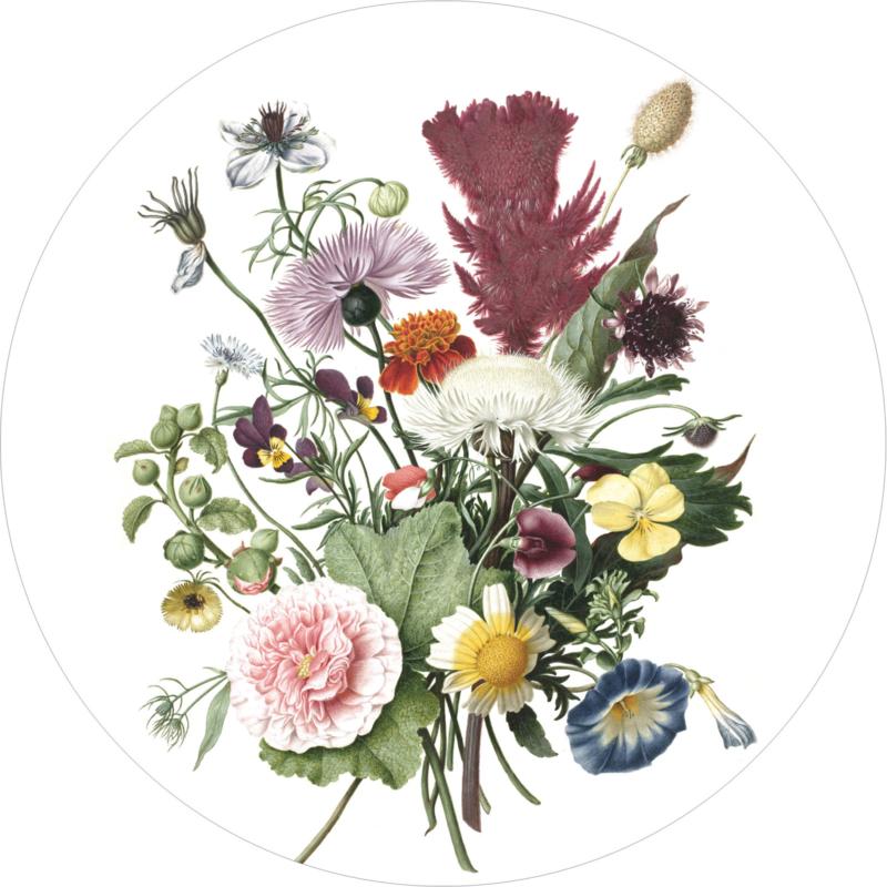 Behangcirkel Wild Flowers