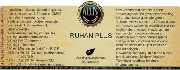 Ruhan Plus  63 capsules