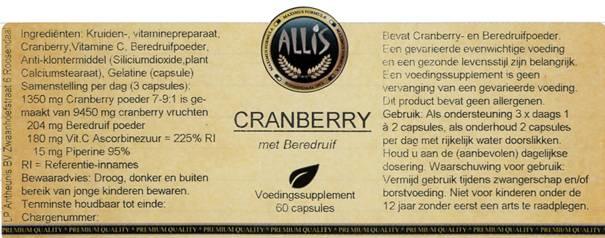 Cranberry  60 capsules