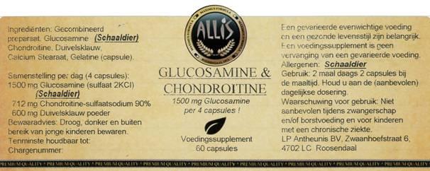 Glucosamine & Choncroïtine  60 capsules