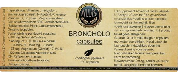 Broncholo 100 capsules