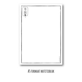 To-do notitieblok | A5 formaat