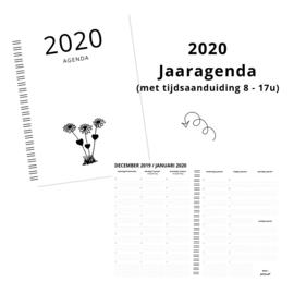 Jaaragenda 2020 met data en tijden (8-17u)