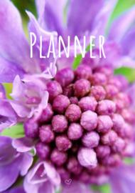 Planner met bloemenfotografie (A5 formaat)
