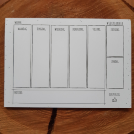 Pluimpjes weekplanner | A5 formaat