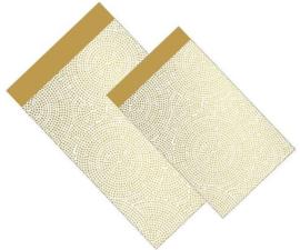 Inpakzakjes goud graphics | per 5 stuks | 12x19cm