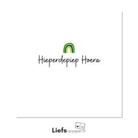 Hieperdepiep Hoera   kaart met enveloppe