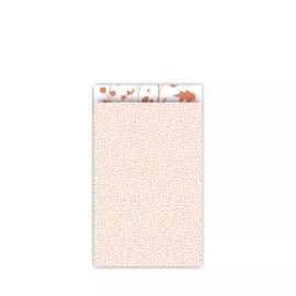 Inpakzakjes spring peach | per 5 stuks | 12x19cm