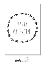 Happy Valentine (dubbele uitvoering met enveloppe, A6 formaat)