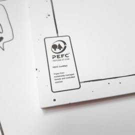Bureau onderlegger | A3 formaat | milieubewust geprint