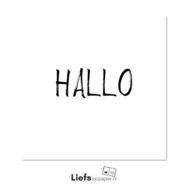 Hallo | kaart met enveloppe