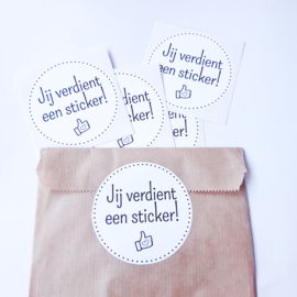 Je verdient een sticker!   Stickers   5 stuks