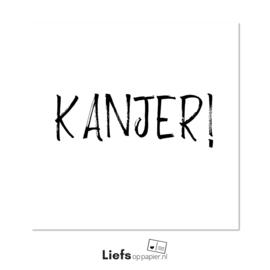 Kanjer! | kaart met enveloppe