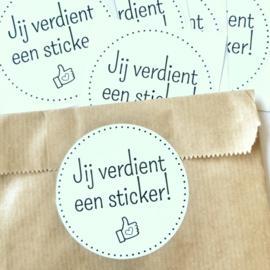 Je verdient een sticker! | Stickers | 5 stuks