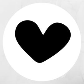 Hart | Pluimpjes magneet rond