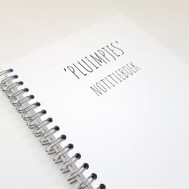 Pluimpjes notitieboek (A5 formaat, ringband)