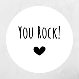 You Rock! | Pluimpjes magneet rond