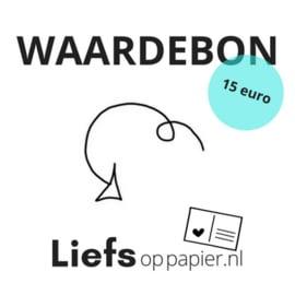 Waardebon 15 euro