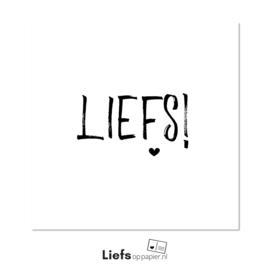 Liefs! | kaart met enveloppe