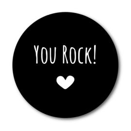 You Rock | Ronde kaart met enveloppe
