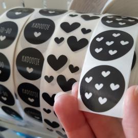 Stickers mini (transparant 3x3cm) | 16 stuks
